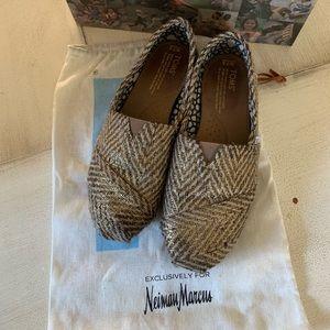 Toms Classic Gilded Herringbone shoes 7.5